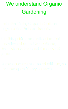 We understand Organic Gardening and offer Both, Organic Soil and Organic Soil Admendments. It is this pride and dedication that has allowed us to Serve Aloha, Beaverton & Portland for over 90 years. Come on down and meet with us, we are now open 7 days a week.